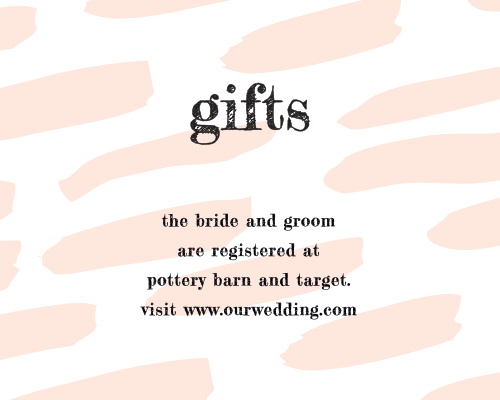 Guide your guests to the items you need and want most with our Giddy Graffiti Registry Cards.