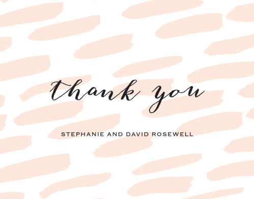Turn your gratitude into something tangible with our Giddy Graffiti Wedding Thank You Cards.
