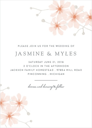 For a lovely invitation showing the elegance of your wedding plans, look no further than our Delicate Daisies Wedding Invitations.