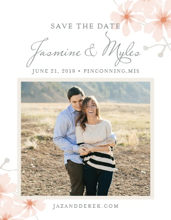 For a wonderful card showing the elegance of your wedding plans, look no further than our Delicate Daisies Wedding Save-the-Date Cards.