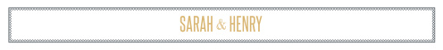 Wrap your wedding invitations in our stunning Marvelous Manor Wedding Belly Bands for a modern, elegant look. Geometric patterns form a thin border around your names, which we've written  in a clean-cut, shining gold-foil; together, these design choices make for a gorgeous first look at your wedding themes.