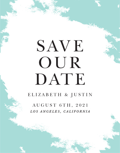 Our Something Blue Save-the-Date Cards ensure that your loved ones mark their calendars well in advance of your special day.