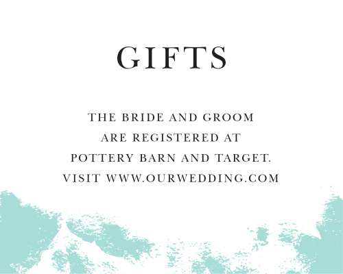 Customizable wedding registry cards by basic invite something blue registry cards altavistaventures Gallery