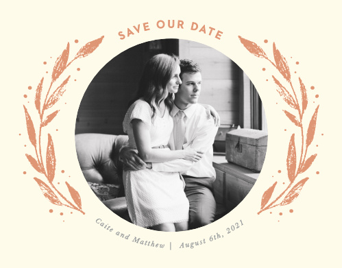 Our Rustic Branches Save-the-Date Magnets ensure that your loved ones mark their calendars well in advance of your special day.