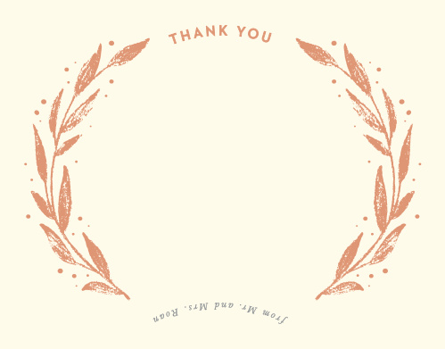 Our Rustic Branches Thank You Cards utilize the same gorgeous design and color scheme as several other cards in the Rustic Branches wedding suite.