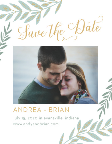 Guarantee that your guests know about your wedding well in advance with our stunning Graceful Garden Save-the-Date Cards.