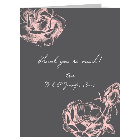 Show your appreciation with this fully customizable thank you card. Choose the colors and fonts that best suit your theme.