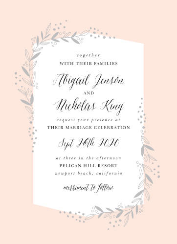 For a lovely floral invitation, look no further than our Delicate Botanical Wedding Invitations!