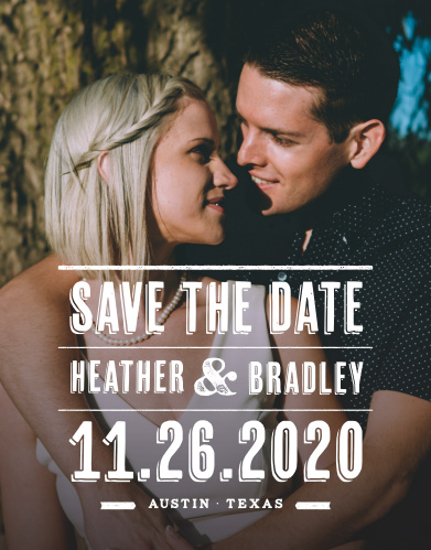 Our Poster Print Save-the-Date Cards ensure that your loved ones mark their calendars well in advance of your special day.