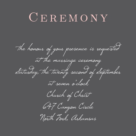 This ceremony/reception card made to match your invite will be a perfect touch, after you personalize to make it yours.