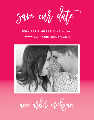 For a gorgeous card rich in color, look no further than our Bright Stars Save-the-Date Cards!