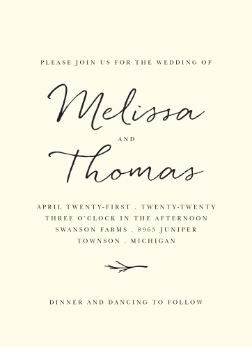 For a gorgeous invitation befitting the elegance of your wedding plans, look no further than our Weathered Twig Wedding Invitations.