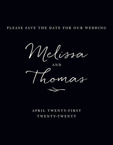 For a beautiful card befitting the elegance of your wedding plans, look no further than our Weathered Twig Save-the-Date Cards.