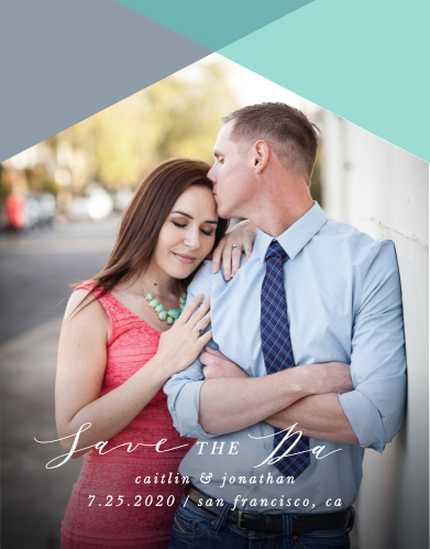 Our Geometric Apex Save-the-Date Cards ensure that your loved ones mark their calendars well in advance of your special day.
