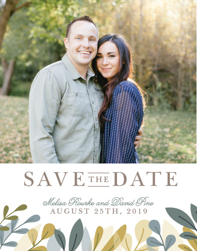 Our Forest Leaves Save-the-Date Magnets ensure that your loved ones mark their calendars well in advance of your special day.