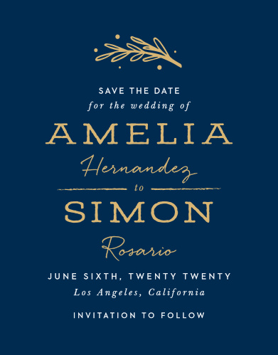 Our Simply Botanical Save-the-Date Cards ensure that your loved ones mark their calendars well in advance of your special day.