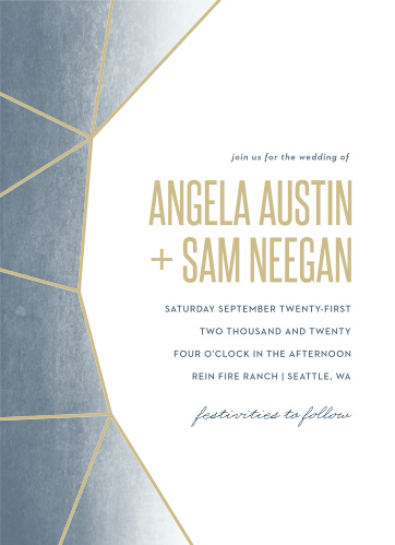 For a beautiful invitation befitting the elegance of your wedding plans, look no further than our Gleaming Gemstone Wedding Invitations.