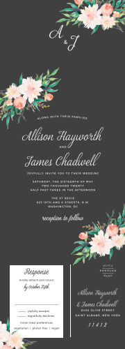 Show your guests that your love is in full bloom with our Blossoming Love Seal & Send Wedding Invitations.