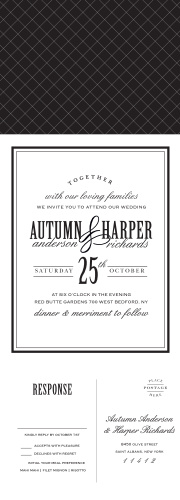 Wedding invitations don't get much more classic than our Antique Elegance Seal & Send Wedding Invitations.
