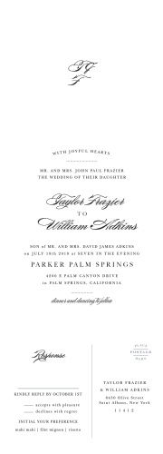 Our Elegant Vintage Seal & Send Wedding Invitations feature a text that flows across the page and into your loved ones' hearts.