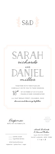 Wedding invitations match your color style free type frame seal send wedding invitations stopboris Choice Image