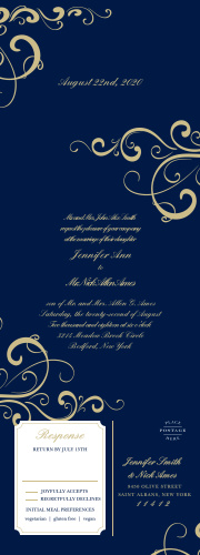 Our Simple Swirls Seal & Send Wedding Invitations combine a modern color scheme with antique designs for a card as unforgettably beautiful as your wedding itself.