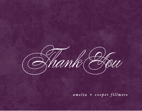 Our In The Mood Wedding Thank You Cards are a perfect way to honor your loved ones by showing them how grateful you are!
