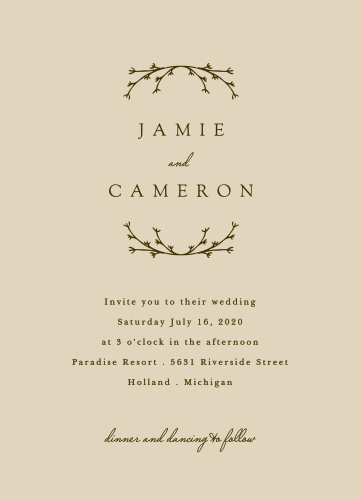 Our Charming Twig Wedding Invitations are a wonderful choice for your special day!