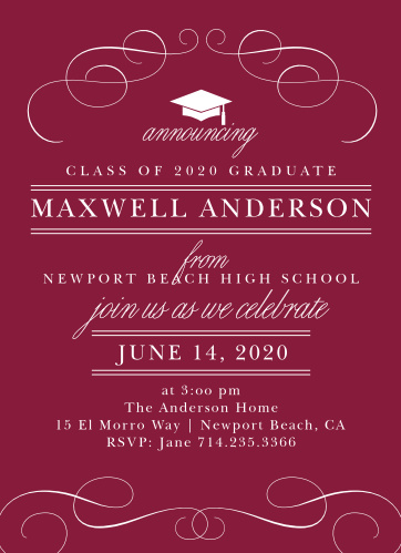 Invite your most cherished friends and family to your big day with our Swirling Success Graduation Invitations.