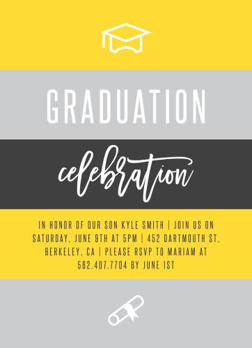 2018 graduation announcements invitations for high school and college striped celebration graduation invitations filmwisefo