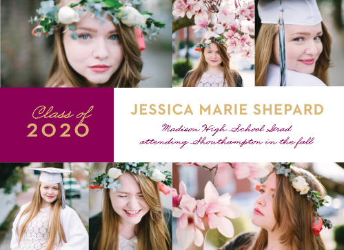Our stunning Banner Year Graduation Announcements are as beautiful as you can make them.
