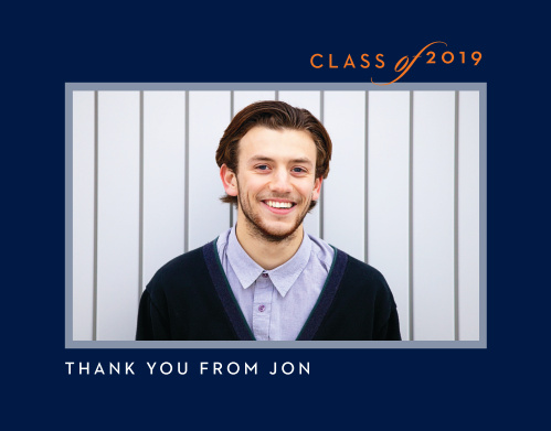 Share your appreciation with our stunning Class & Style Graduation Thank You Cards.