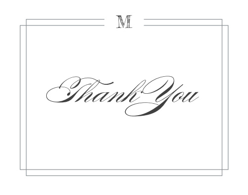 Grad Monogram Graduation Thank You Cards say everything that you could possibly need to.
