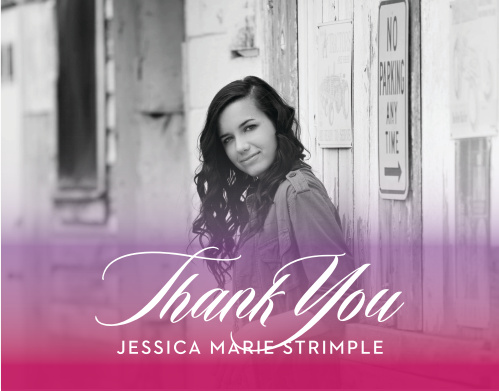 Thrilling Transitions Graduation Thank You Cards allow you to say exactly what you need to.