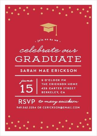 2018 graduation announcements invitations for high school and college cap confetti graduation invitations filmwisefo