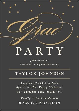 Ever Elegant Graduation Invitations