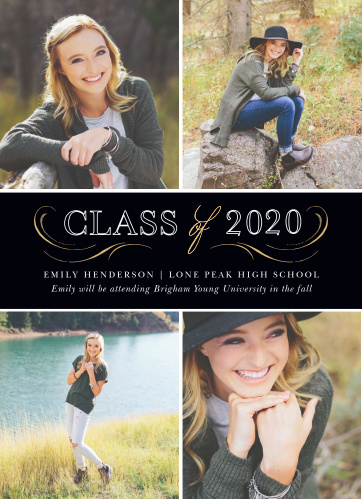 Our Elegant Band Graduation Announcements are formal and fun.