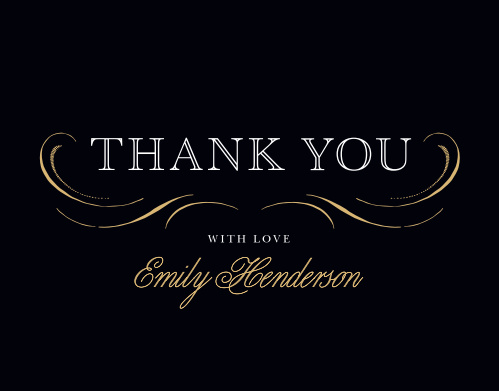Our Elegant Band Graduation Thank You Cards are formal and fun.