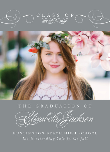 Our Elegant Senior Graduation Announcements are both stylish and formal.