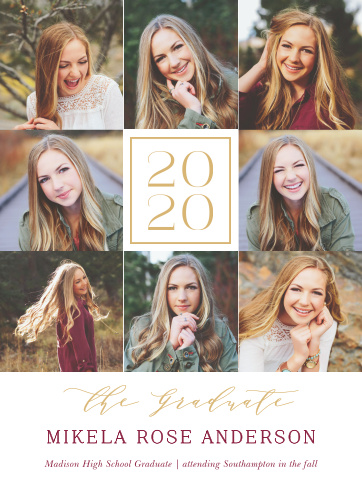 Our Framed Shots Graduation Announcements are designed for you to show off!