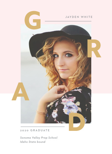 Our Fashion Editorial Graduation Announcements are designed to show you off!