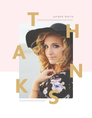 Our Fashion Editorial Graduation Thank You Cards are designed to show you off!