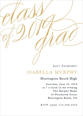 Our Exquisite Celebration Graduation Invitations are the perfect choice for your graduate.