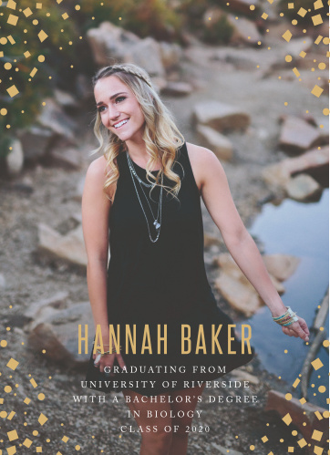 Our Gold Confetti Corners Graduation Announcements are perfect for adding that special glamour to your graduates announcement.