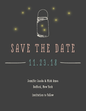 Stand out and make your Save-the-Date memorable by sending out a magnet! Customize the colors, font, and photo to make it uniquely you!