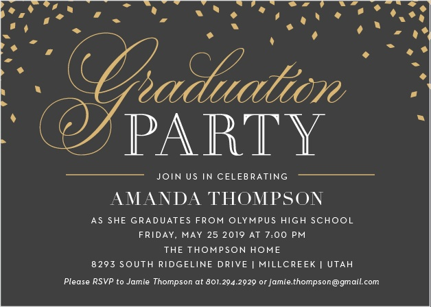 Our Falling Confetti Graduation Invitations are a wonderful way to get the word out about your graduates big event.
