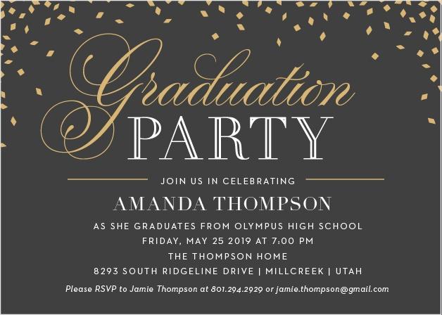 2018 graduation announcements invitations for high school and college falling confetti graduation invitations filmwisefo