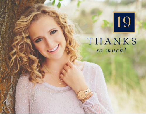 Our Big Time Blocks Graduation Thank You Cards are a perfect way to send your gratitude to loved ones.