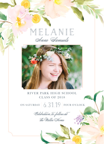 Our Melodious Melanie Graduation Invitations are a perfect selection for your graduates needs!