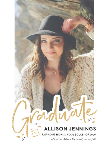 Celebrate your many accomplishments with our stylish and exciting Lettered Overlay Graduation Announcements.
